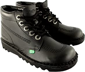 Mens Kickers Kick Hi Leather Classic Oxfords Office Work Boots Shoes 7db6a80a3698