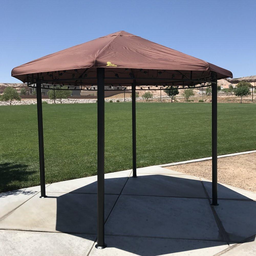 Palm Springs - Cenador circular para jardín o patio con marco de ...