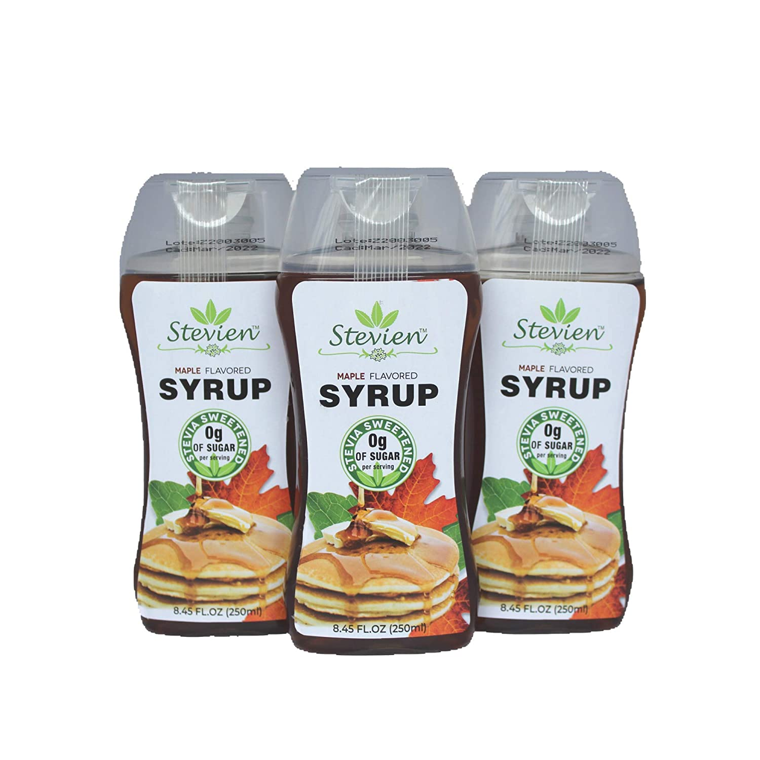 Stevien Keto Sugar Free Maple Syrup - Vegan - Low Carb - Gluten Free - Low Calorie - Sweetened with Organic Stevia (1)