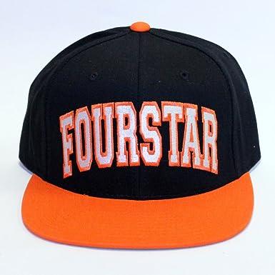 Fourstar Summer 13 gewölbte Starter Snapback Cap Schwarz Orange ... 96a7141e61c6