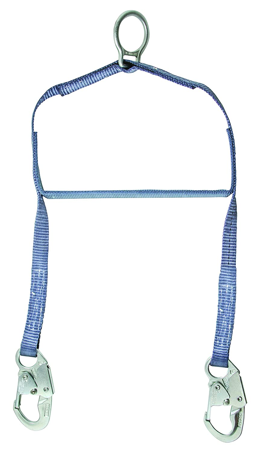 FallTech 8208 Confined Space Retrieval Yoke with 2 Steel Snap Hooks and Connecting Ring, Jacketed Aluminum Spanner Bar, 24' L x 12' W, Blue 24 L x 12 W