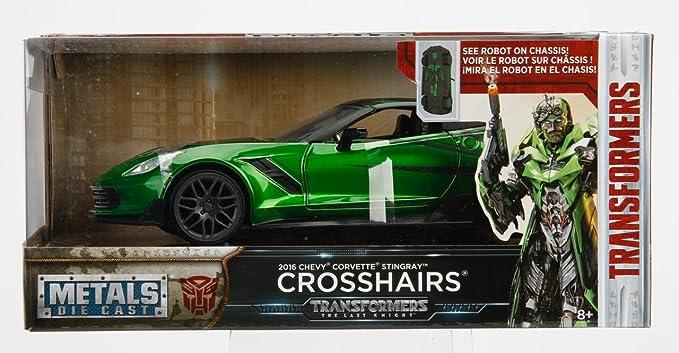 Jada Chevrolet Corvette C7 Crosshairs Transformers Letzte Ritter 98499 1//24