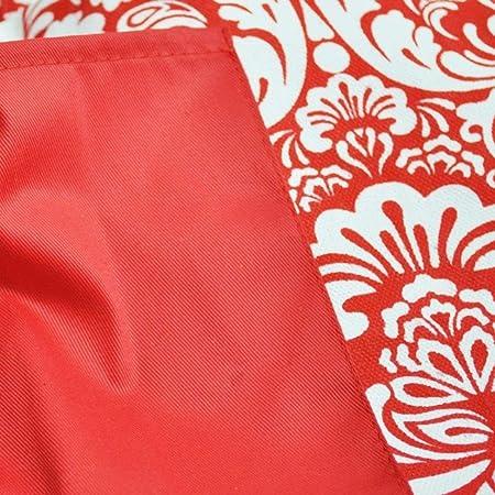 Amazon.com: eDealMax 100% algodón lavable Máquina para hornear Delantal de la cocina con 2 bolsillos Rojo: Kitchen & Dining