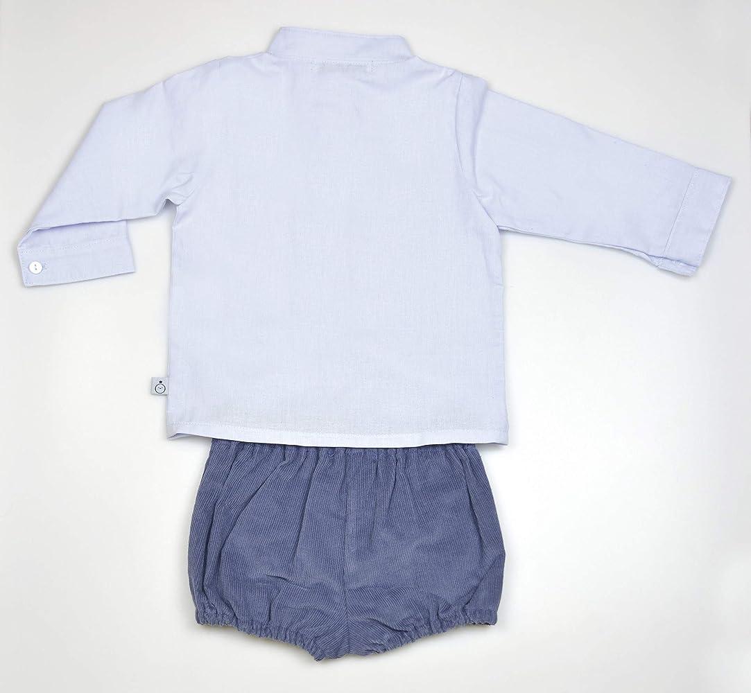 cotet cotet Conjunto NIÑO Camisa Cuello Mao + PANTALÓN Gomas - 18M, Gris Azulado: Amazon.es: Ropa y accesorios