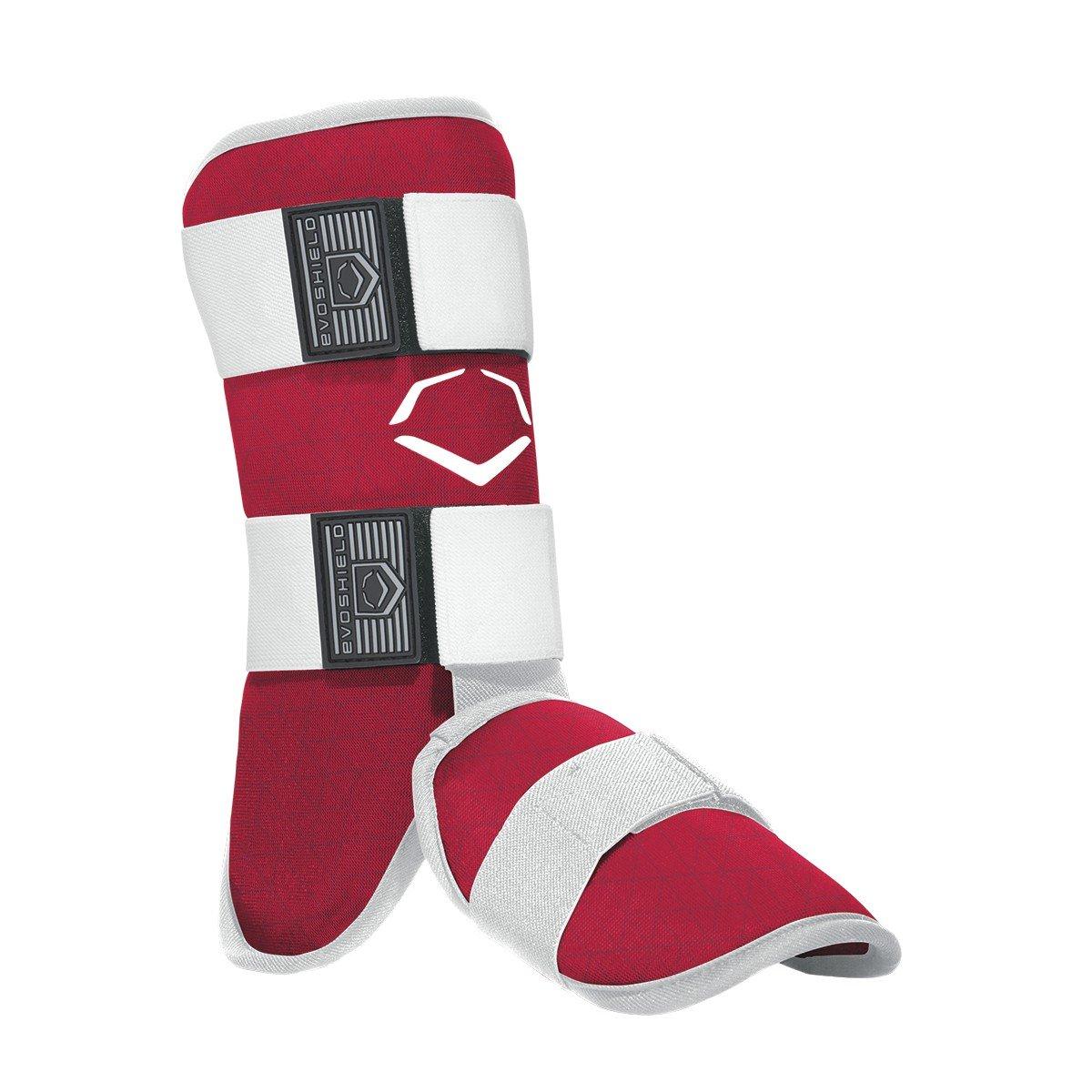 EvoShield EvoCharge Batter's Leg Guard - Adult, Red
