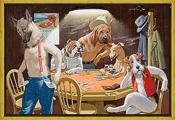 Berkin Arts Marco Arthur Saron Srnoff Giclee Lienzo Impresión Pintura Póster Reproducción Print (Perros Jugando al Poker): Amazon.es: Hogar
