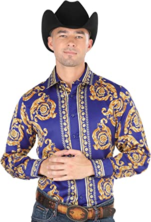 El General Western Shirt Long Sleeve 100/% Cotton Royal Blue