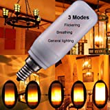 3Modes 3W E12 LED Flame Bulb,candelabra Atmosphere flickering for home Party Christmas 1Pack
