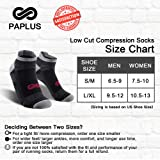Low Cut Compression Socks for Men and Women, No