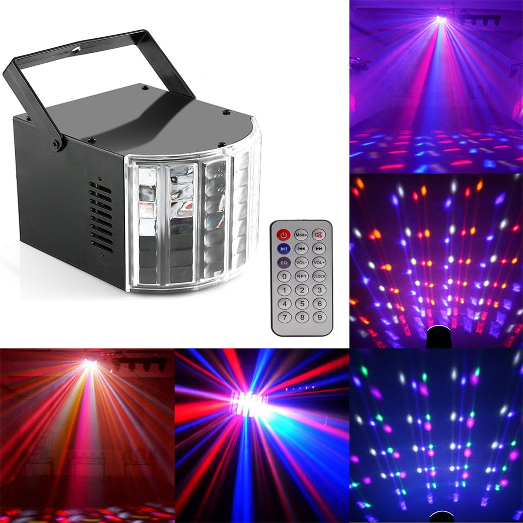 Top-Uking Disco Light Strobe Beam Pattern Magic Ball light Sound and DMX Control 60W LED RGBW 4 in 1, Stage Effect Light for Bar Wedding Club Dj Disco Home Party Bands Show (4 style)
