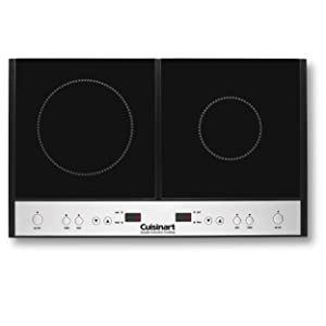 Cuisinart ICT-60 Double Induction Cooktop, Black