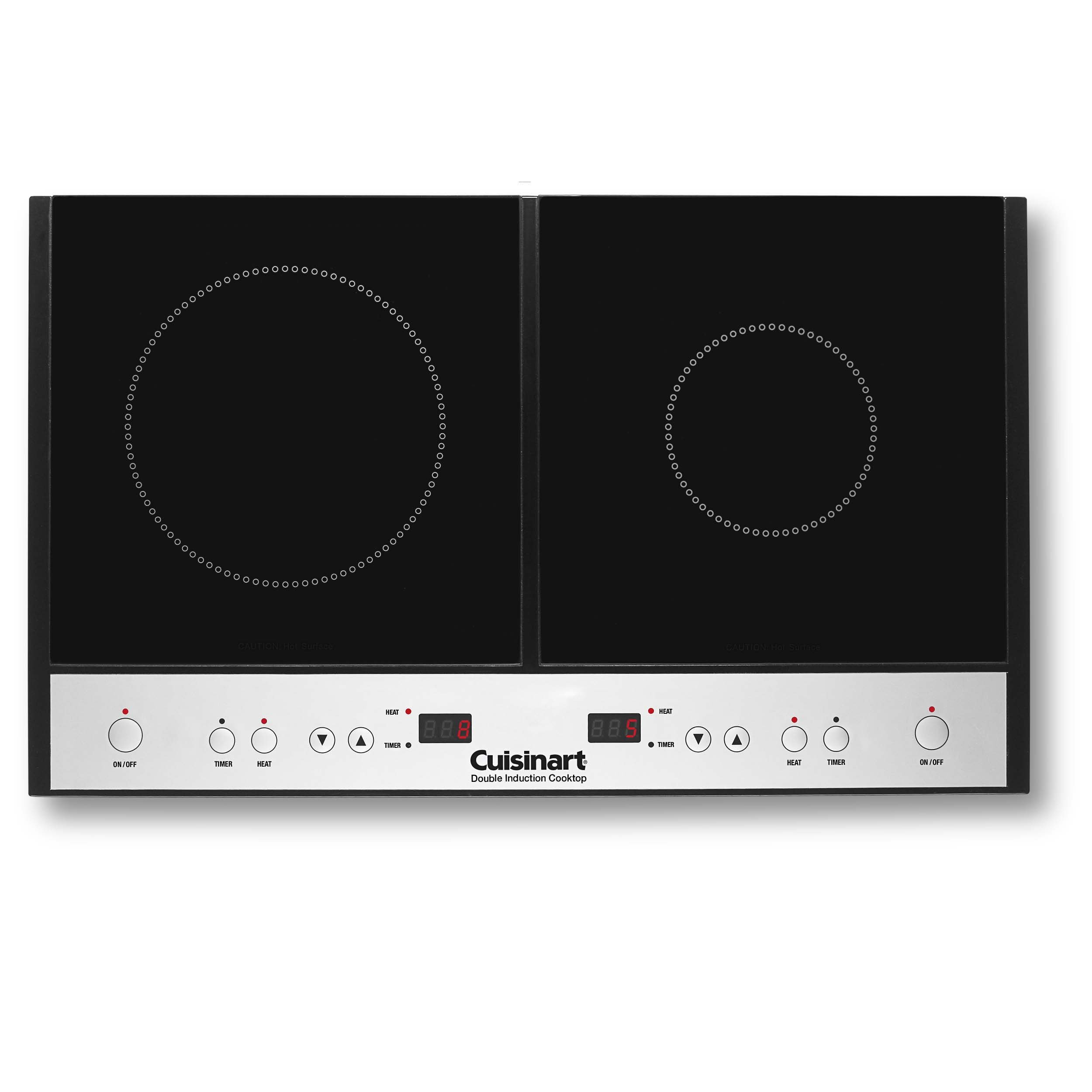Cuisinart ICT-60 Double Induction Cooktop, Black by Cuisinart