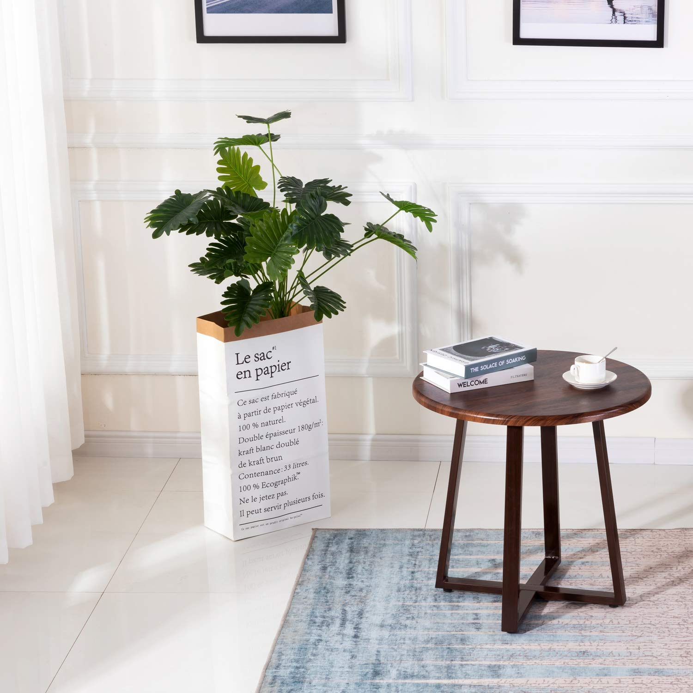 Walnut Living Room Office Coffee Table Side Sofa End Lamp
