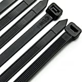 Cable Ties 300mm X 7.6mm - Heavy Duty Tie Wraps / Zip Ties, 50PCS in White and 50PCS in Black