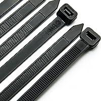 Kabelbinders 300mm X 7.6mm - Heavy Duty Tie Wraps /Premium Zip Ties, 50PCS in wit en 50PCS in zwart