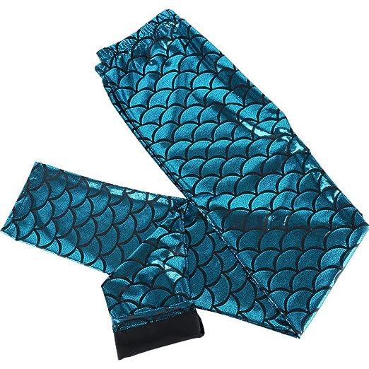 JNCH Leggings Leggins Estampados de Sirena Pantalones Elásticos Deportivos para Mujer (Azul, L): Amazon.es: Ropa y accesorios