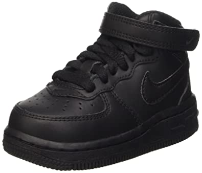 sports shoes 673ac bc1a5 Nike  314197-004  Force 1 MID (TD) Infants Shoes Black