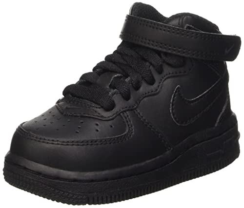 watch 87bb0 d6935 Nike Baby Boys Force 1 Mid (td) Low-Top Sneakers, Black 004
