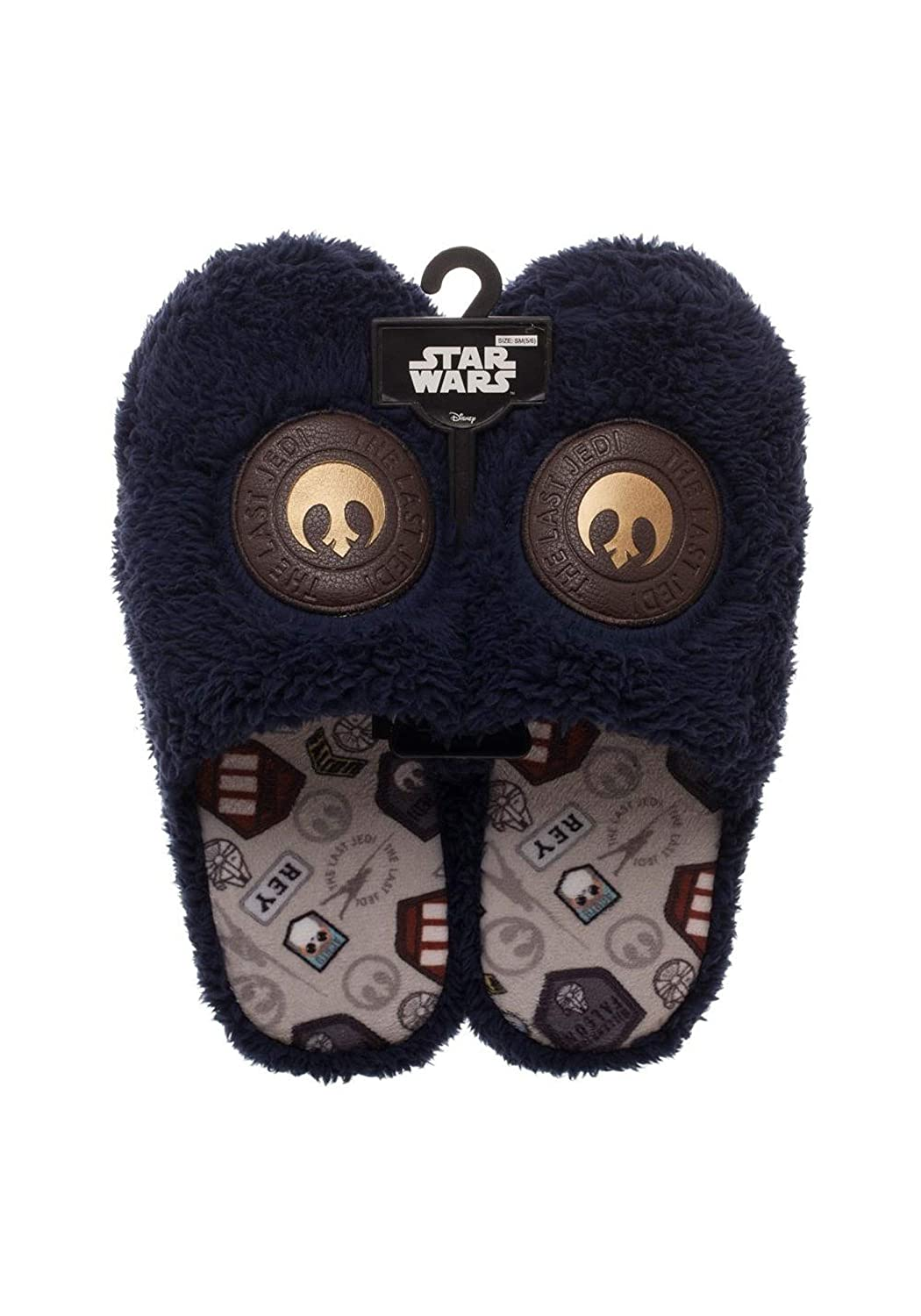 Adult Star Wars The Last Jedi Rey-Inspired Scuff Slippers Large