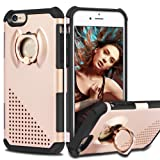 "iPhone 6s Case, Coolden® [kickstand] Hybrid Heavy Duty Tough Case iPhone 6s Armor Defender Case PC Back TPU Bumper Slim Protective Case Cover for iPhone 6s / 6 4.7"" Hard Protection Case (Rose Gold)"