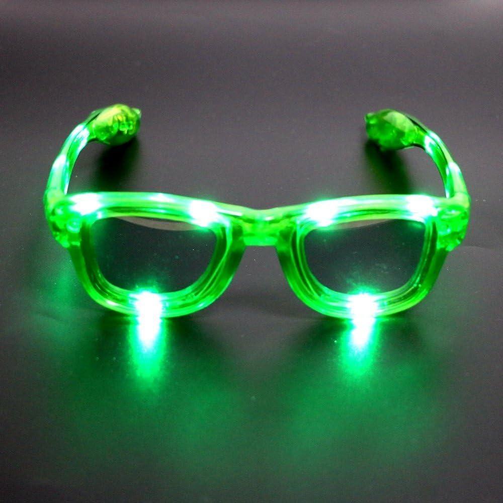 Atcket - Gafas de sol led parpadean en 4 unisex, para adultos y niños/luces LED