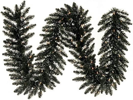 Christmas Decoration Tinsel Christmas Concepts 3m Black with White Tips 9.8ft Chunky//Fine Christmas Tinsel