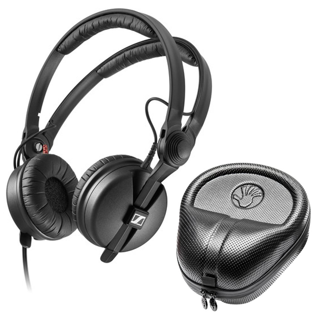 Sennheiser HD 25 PLUS On-ear closed back Monitor DJ Headphones + Slappa HardBody PRO Headphone Case