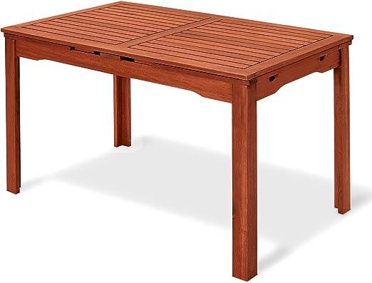 Mesa rectangular de madera natural 77 x 200 x 70 cm, Mod.Thuja ...