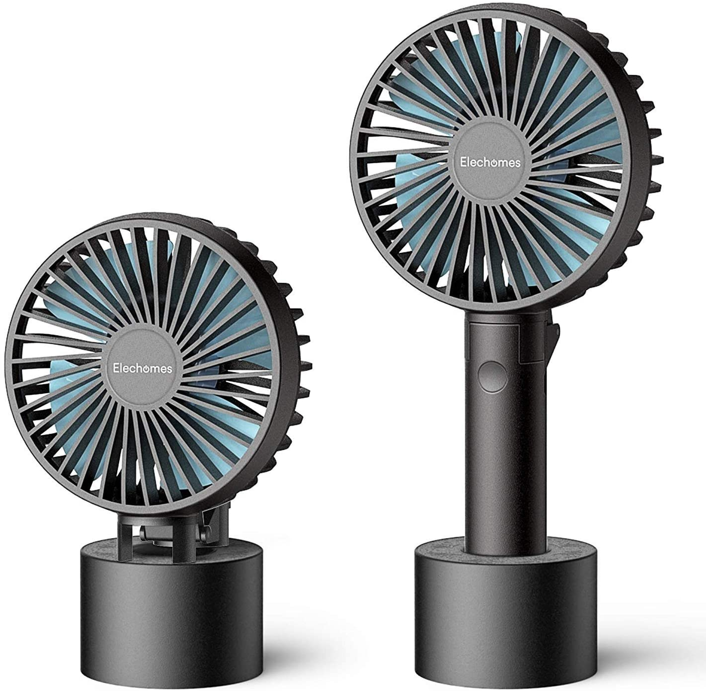 ELECHOMES 2 Pack Mini Ventilador de Mano USB Portátil, ventiladore de Escritorio o Mesa, Batería Recargable Ideal para Viajes, Ordenadores portátiles, acamapadas: Amazon.es: Electrónica