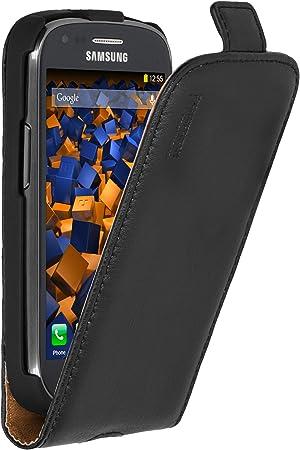 Mumbi - Funda de cuero con tapa para Samsung Galaxy S3 mini, color negro: Amazon.es: Electrónica