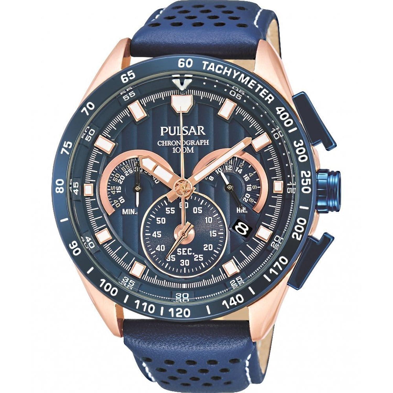 Pulsar Herren-Armbanduhr XL Sport Analog Quarz Leder PU2082X1