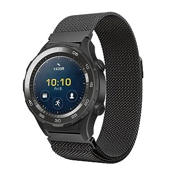 OverDose Milanesa pulsera de banda de reloj de acero inoxidable para reloj Huawei 2 (Negro, 230mm): Amazon.es: Deportes y aire libre