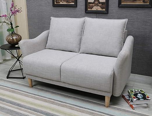 BLF Linen Fabric Small Sofa 56\