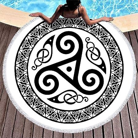 Negro y blanco, diseño celta, cuervo escandinavo, runas de tatuaje ...