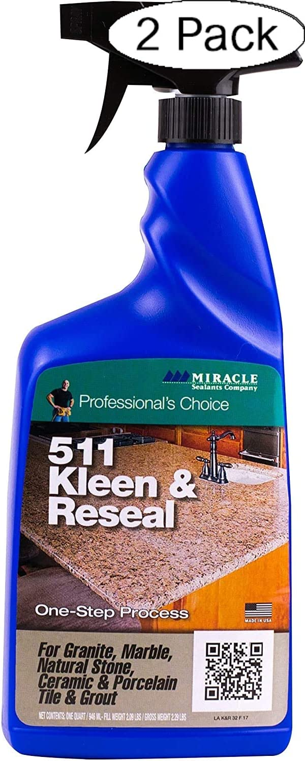 Miracle Sealants KLRE32OZ6 511 Kleen & Reseal Cleaners, 32 oz (Pack of 2, Clear)