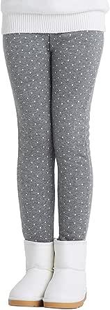 Adorel Leggins Térmicos Pantalón Forros Algodón para Niñas