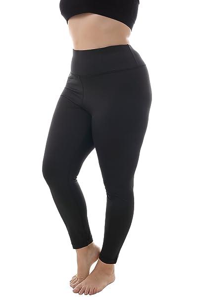 4048351f2995c Zerdocean Women's Plus Size High Waist Tummy Control Yoga Pants Black 1X