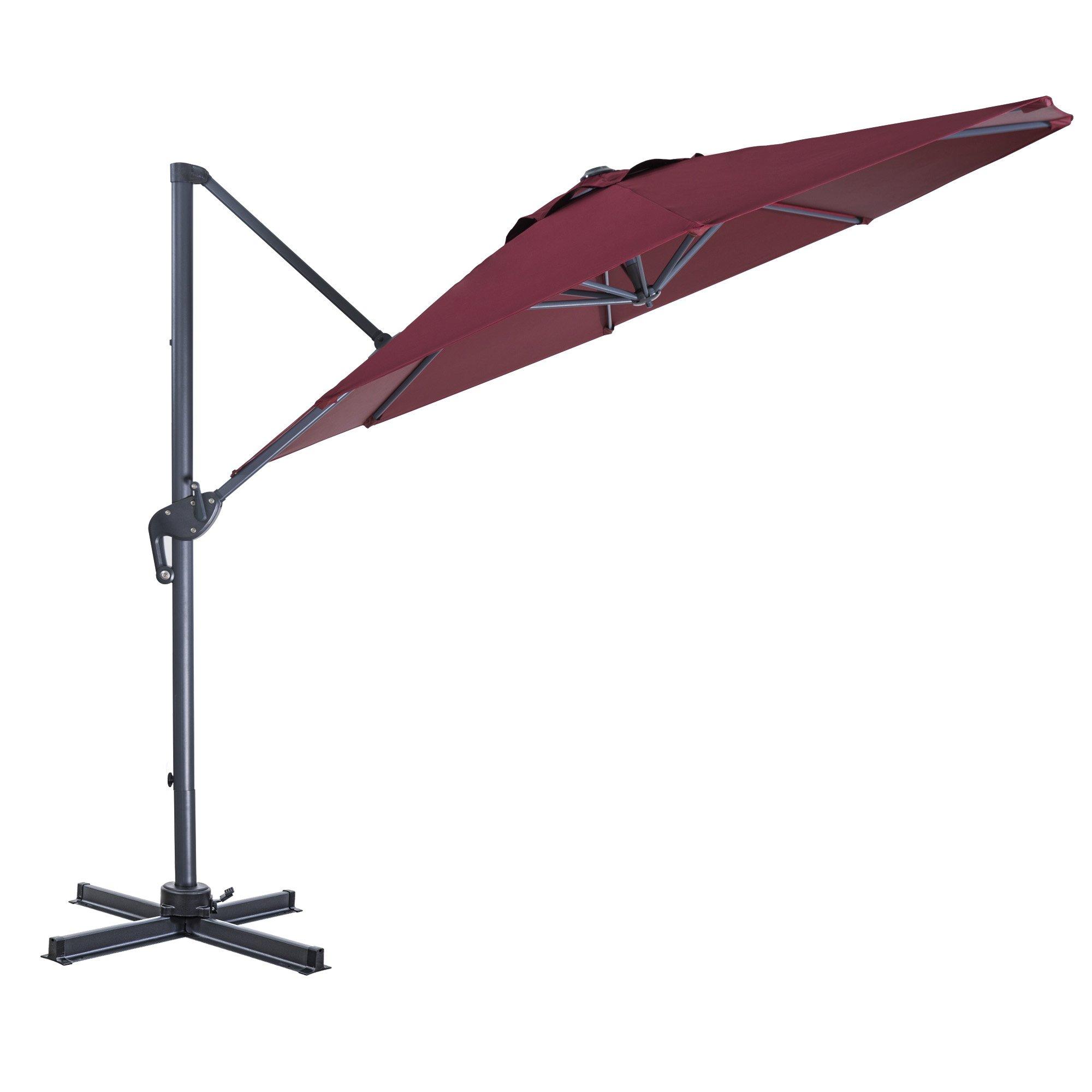 d6dfef21cf FurniTure Hanging Umbrella 10' Patio Umbrella Outdoor Cantilever ...