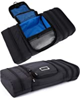 Pro Packing Cubes Travel Toiletry Bag - Packs Flat To Save Space - Waterproof Hanging Toiletries Kit For Men and Women - This Organizer Is Ultra Light And Fits Carry On Luggage For Stress Free Packing