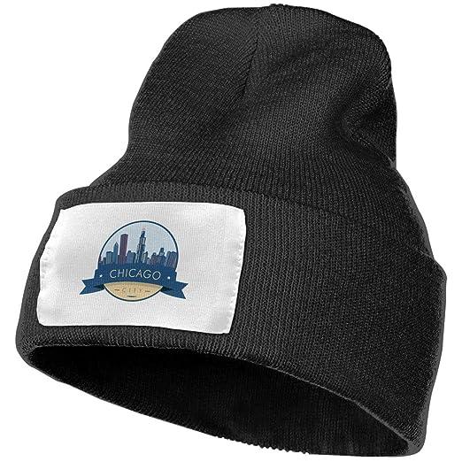 Image Unavailable. Image not available for. Color  Chicago City Skyline Men  Women Winter Beanie ... 52e93f3e1d