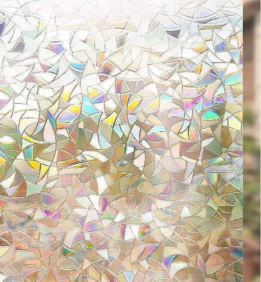 rabbitgoo 3D Vinilos para Cristales Ventanas, Translúcido Lamina ...