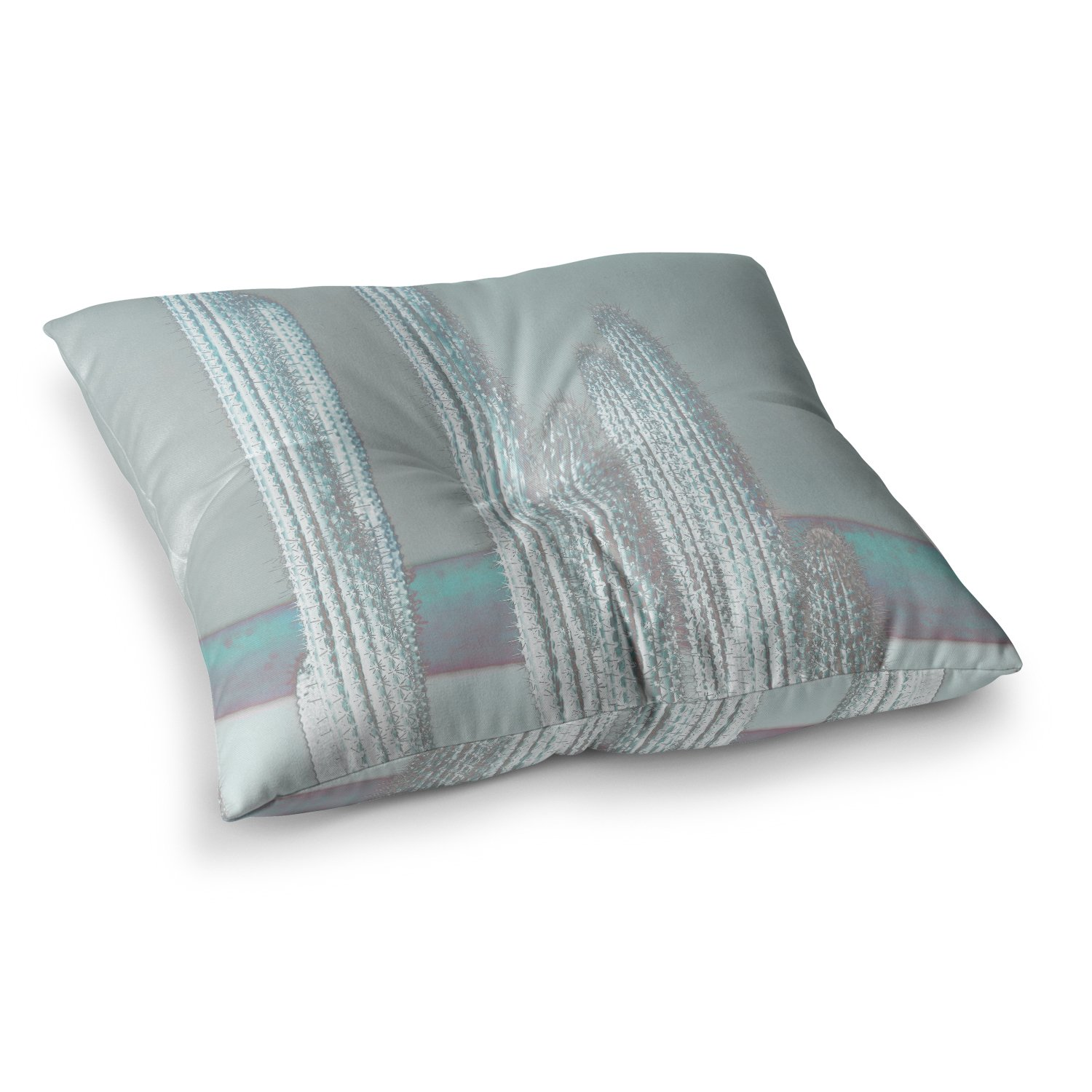 23 x 23 Square Floor Pillow Kess InHouse Project M Blue Tooth Navy White