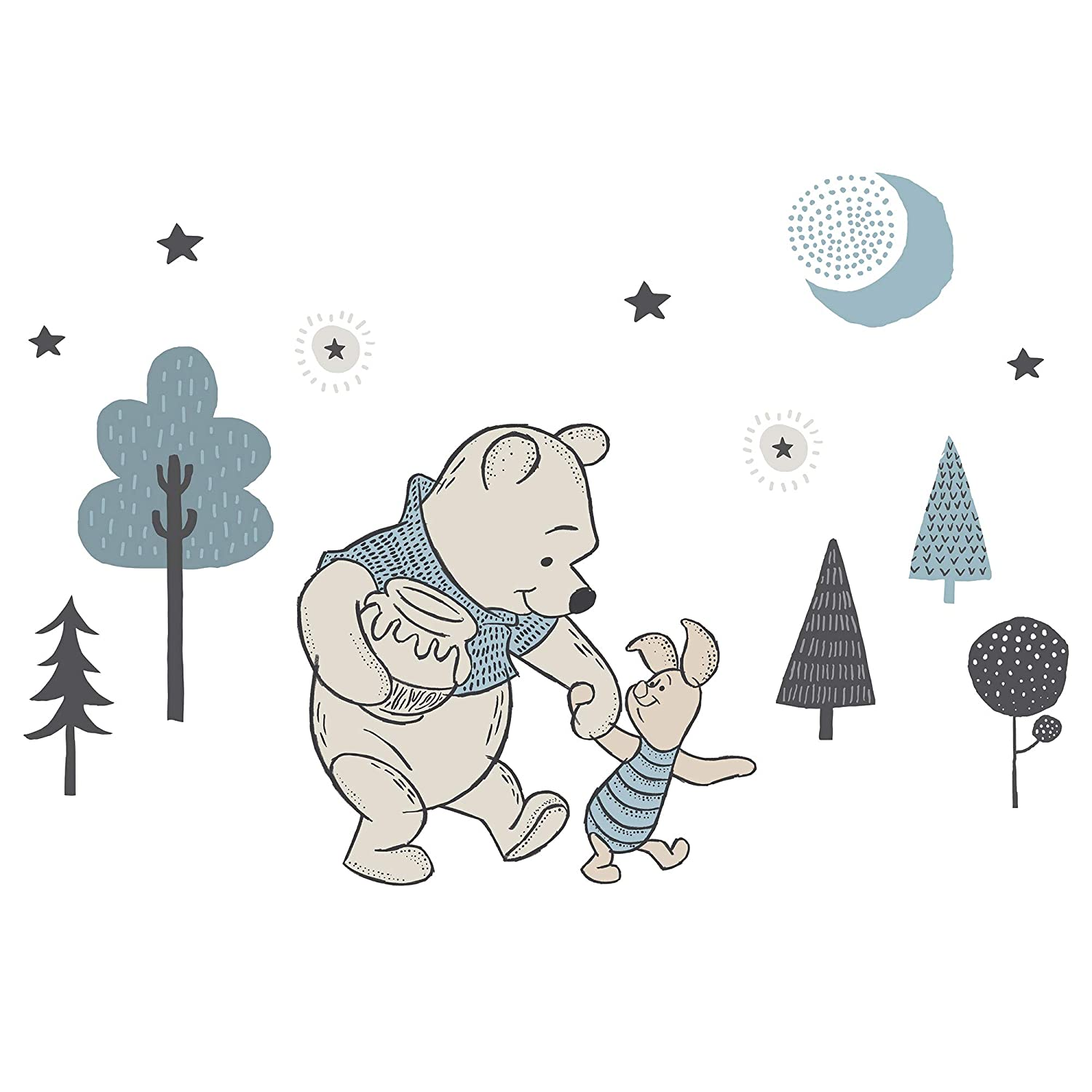 Lambs & Ivy Forever Pooh Wall Decals, Multicolor