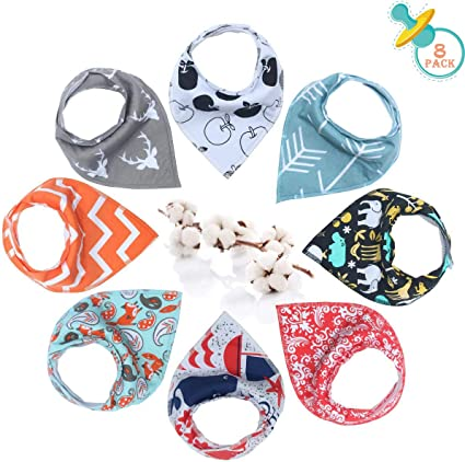 Cute New Gift-s Highly Absorbent and Soft Dribble Baby Bandana Bibs Boy-s