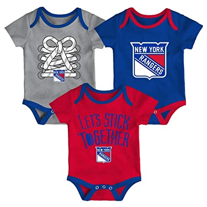Image Unavailable. Image not available for. Color  Outerstuff New York  Rangers NHL Five on Three Infant 3 Pack Bodysuit Creeper Set a4ad2450e