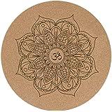 Amazon.com : Mandala Yoga Mat : Round Yoga Cushion