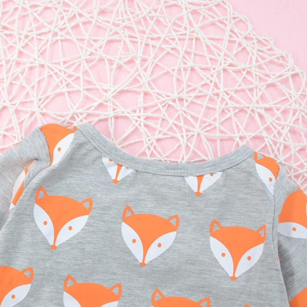 NEW Fall//Winter Fox Print Unisex Baby Layette Gift Set Rompers Onesie 0-24mos TM Shop the Look Memela