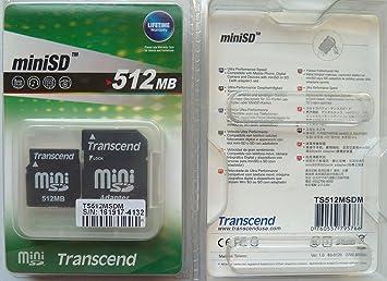 Transcend miniSD Card 512Mb Memoria Flash 0,5 GB: Amazon.es ...