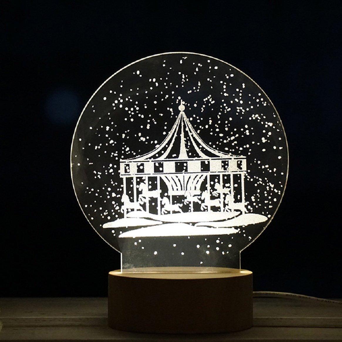Christmas Gift - Coerni Art 3D Christmas Tree LED Light (D)