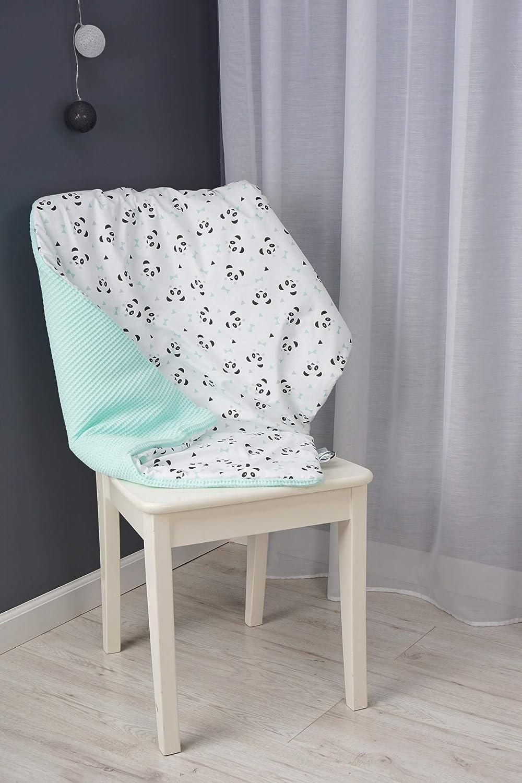 Baby Kuscheldecke  100/% Baumwolle 75 x 100cm Graphite-Elephant S/ü/ßes Kindermuster MoMika Babydecke aus hochwertiger Waffelbaumwolle